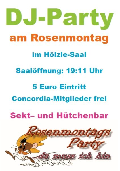 Rosenmontags-Party